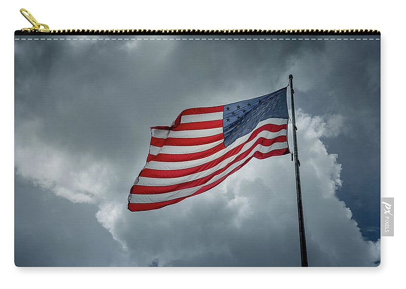 Usa Carry-all Pouch featuring the photograph In The Sky by Marco Zottich