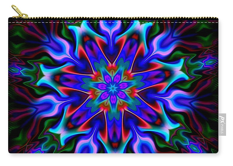 Blue Carry-all Pouch featuring the digital art In The Spirit Of Things by Robert Orinski