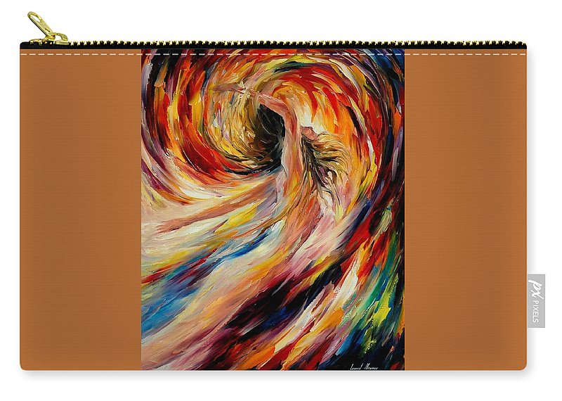 Nude Carry-all Pouch featuring the painting In The Vortex Of Passion by Leonid Afremov
