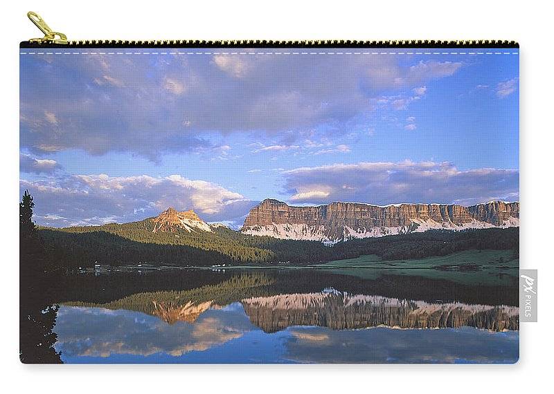 Wind River Carry-all Pouch featuring the photograph In The Wind River Range. by Robert Ponzoni