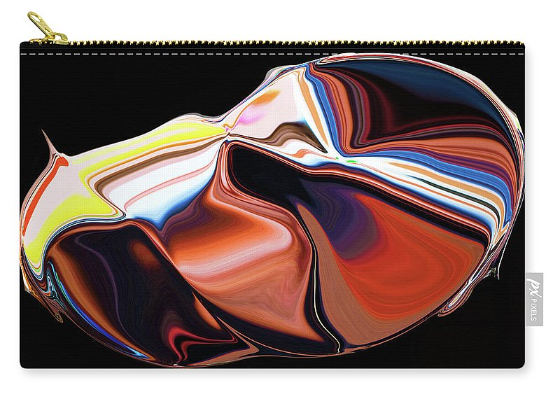 Modern Carry-all Pouch featuring the digital art In The Womb by Ralf Nau