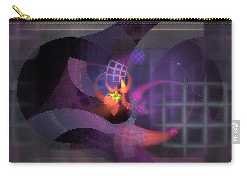 Graceful Carry-all Pouch featuring the digital art In The Year Of The Tiger - Fractal Art by Nirvana Blues