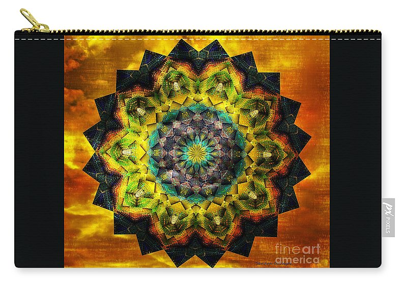 Mandala Carry-all Pouch featuring the digital art In Tune Mandala by Sandra Gallegos