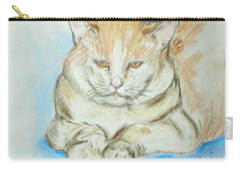 Pastel Carry-all Pouch featuring the drawing In Waiting by Cori Solomon
