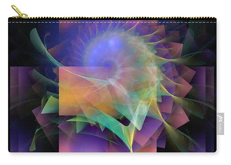 Abstract Carry-all Pouch featuring the digital art In What Far Place by NirvanaBlues