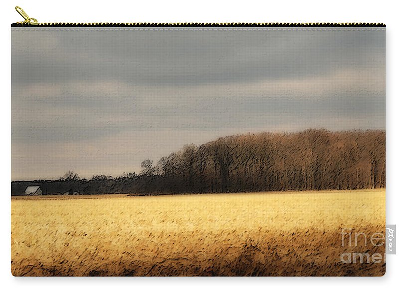 Corn Carry-all Pouch featuring the photograph In Yonder Timber by Michelle Hastings
