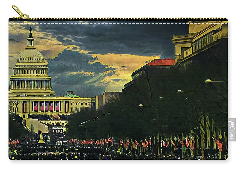 Inauguration Day Carry-all Pouch featuring the photograph Inauguration Day by Russ Harris