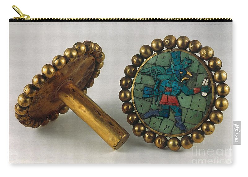 3rd Century Carry-all Pouch featuring the photograph Inca Earrings by Granger