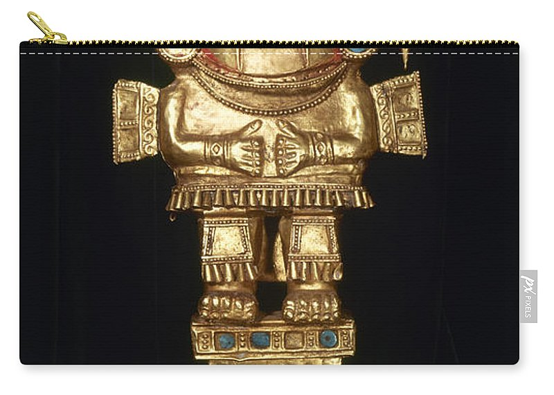 Ancient Carry-all Pouch featuring the photograph Incan Gold Ornament by Granger