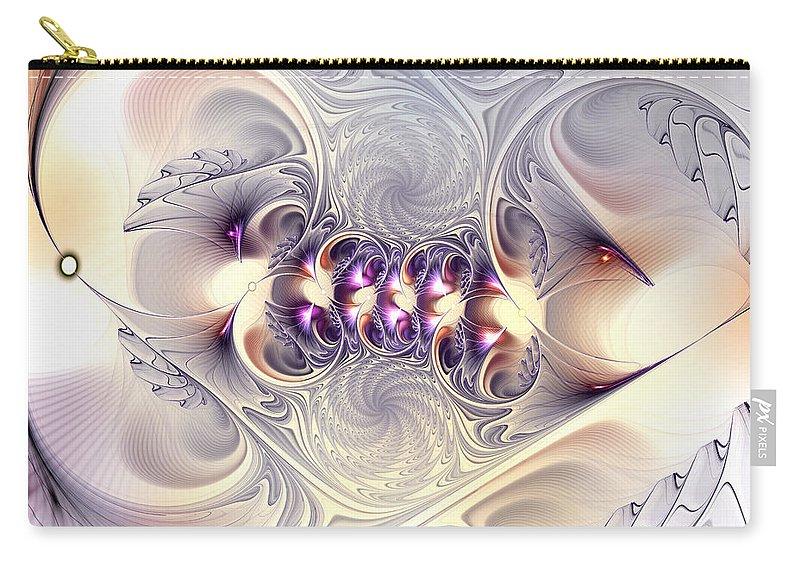Abstract Carry-all Pouch featuring the digital art Incandescent Reminiscences by Casey Kotas