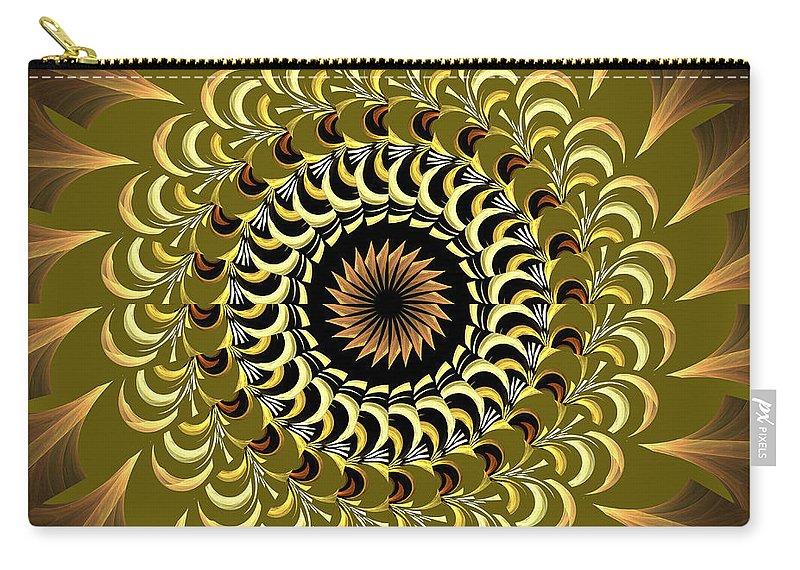 Incendia Carry-all Pouch featuring the digital art Incendia Kaleidoscope by Deborah Benoit