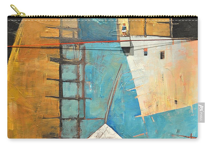 Abstract Carry-all Pouch featuring the painting Incident At Harpers Corner by Tim Nyberg