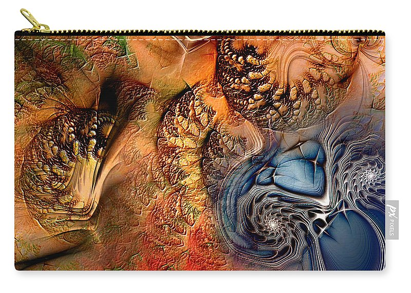 Abstract Carry-all Pouch featuring the digital art Incident At Neshabur by Casey Kotas