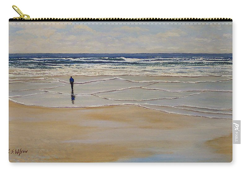 Beach Walk Carry-all Pouch featuring the painting Incoming Tide by Frank Wilson