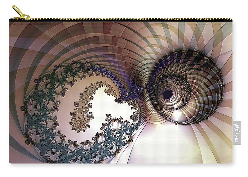 Abstract Carry-all Pouch featuring the digital art Incompatible Elements by Casey Kotas