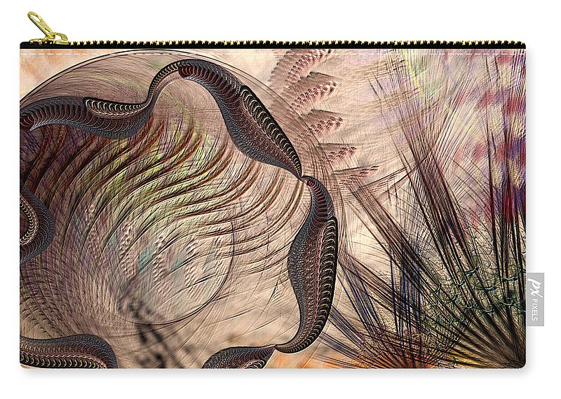 Abstract Carry-all Pouch featuring the digital art Incomprehension by Casey Kotas