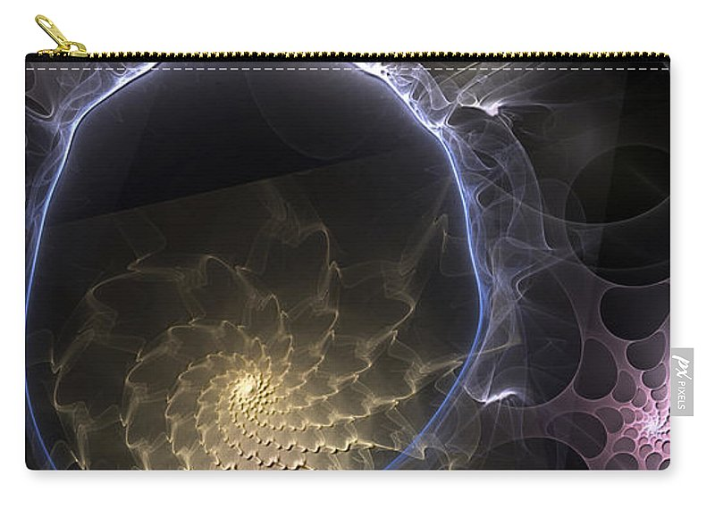 Abstract Carry-all Pouch featuring the digital art Indefinable Expressions by Casey Kotas