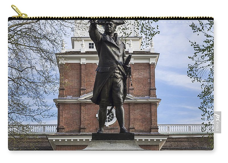 American Carry-all Pouch featuring the photograph Independence Hall And Commodore Barry by John Greim