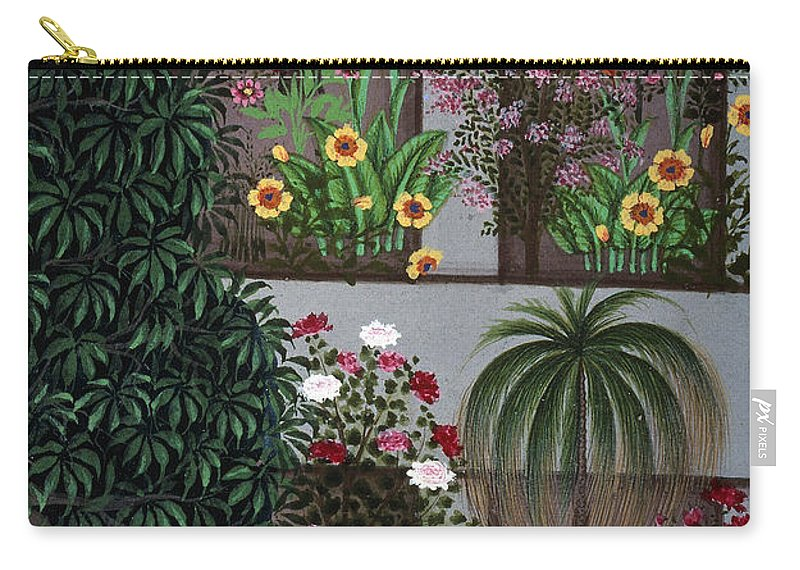 Aod Carry-all Pouch featuring the photograph India: Garden by Granger