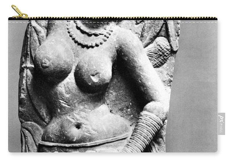 2nd Century Carry-all Pouch featuring the photograph India: Jain Sculpture by Granger