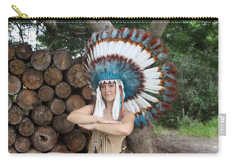 Beautiful Indian Sexy Exotic Female Carry-all Pouch featuring the photograph Indian 018 by Lucky Cole