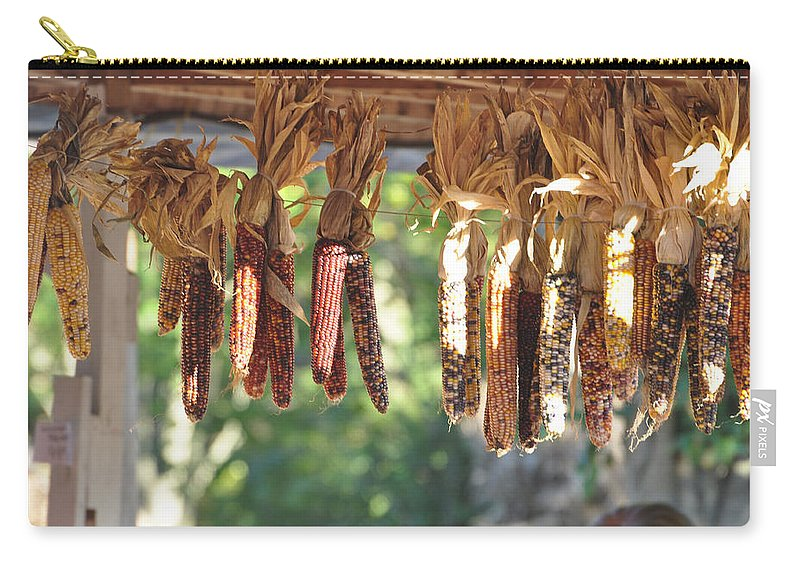 Indian Corn Carry-all Pouch featuring the photograph Indian Corn by Jan Amiss Photography