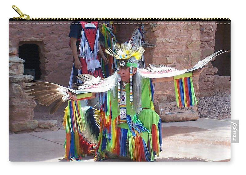 Indian Dancer Carry-all Pouch featuring the photograph Indian Dancer by Anita Burgermeister