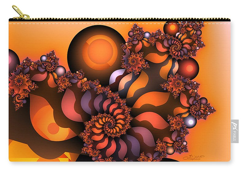 Fractal Carry-all Pouch featuring the digital art Indian Summer by Jutta Maria Pusl
