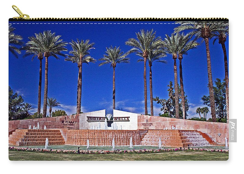 Palm Trees Carry-all Pouch featuring the photograph Indian Wells by David Campbell