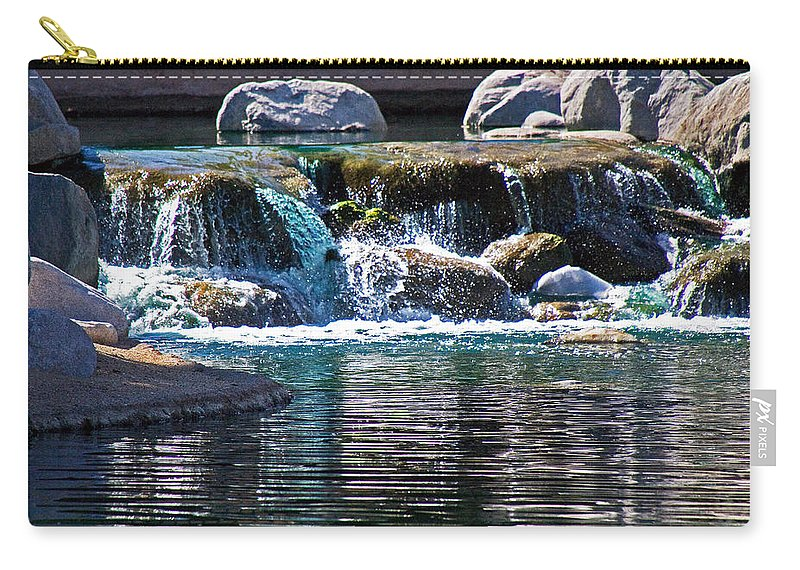 Water Carry-all Pouch featuring the photograph Indian Wells Waterfall by David Campbell