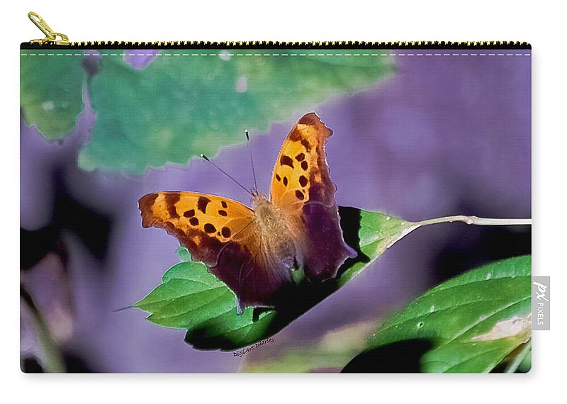 Butterfly Carry-all Pouch featuring the digital art Indiana Angel Wing by DigiArt Diaries by Vicky B Fuller