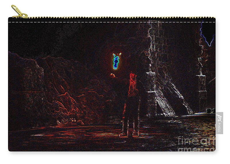 Art Carry-all Pouch featuring the painting Indiana Jones Five by David Lee Thompson