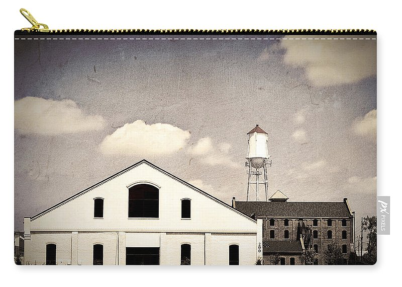 Indiana Carry-all Pouch featuring the photograph Indiana Warehouse by Amber Flowers