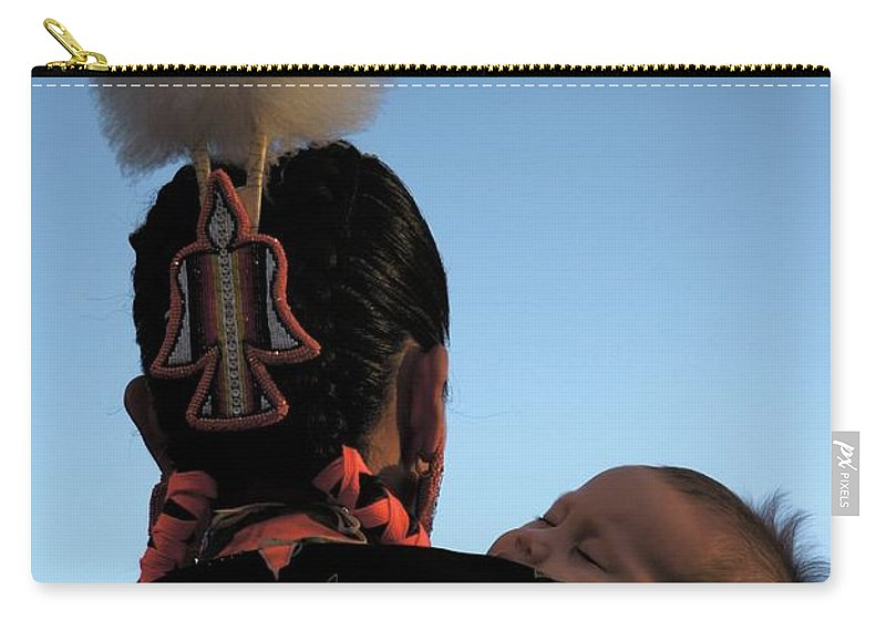 Indigenous Carry-all Pouch featuring the photograph Indigenous Mother by Rachel Dunn