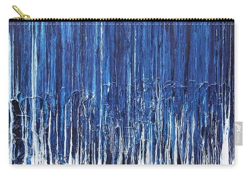 Fusionart Carry-all Pouch featuring the painting Indigo Soul by Ralph White