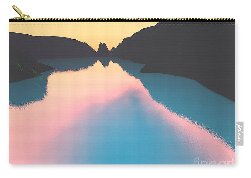 Crater Carry-all Pouch featuring the digital art Indonesian Crater Lakes II by Gaspar Avila