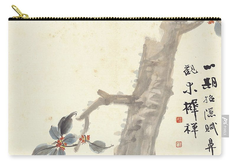 Indus Carry-all Pouch featuring the painting Indus by Zhang Daqian