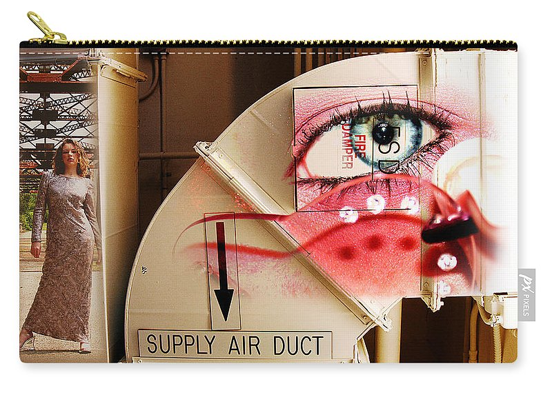 Carry-all Pouch featuring the photograph Industrial Ceiling Dreams by Clayton Bruster