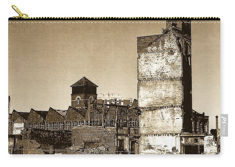 Manchester Carry-all Pouch featuring the photograph Industrial Decay Sepia 1 by John Hughes