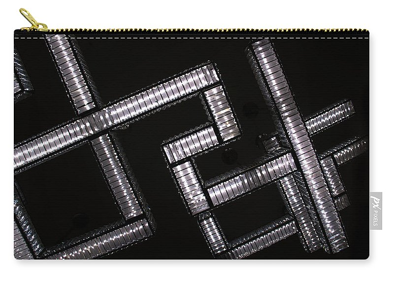 Industrial Carry-all Pouch featuring the photograph Industrial Geometric Design by Amy Sorvillo