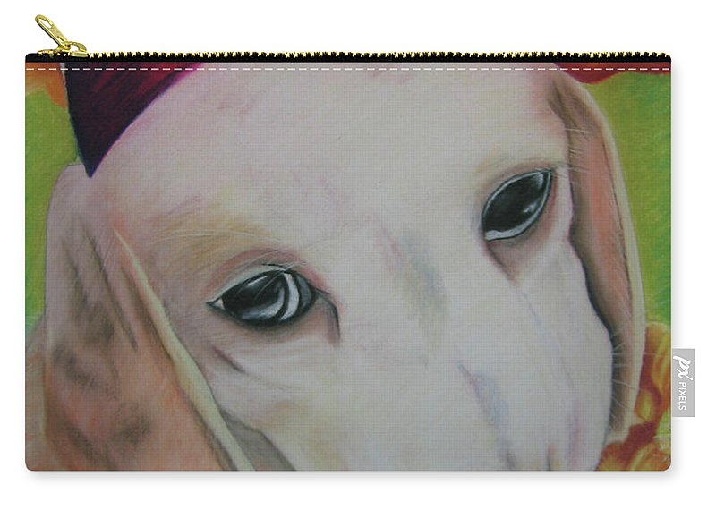 Dog Carry-all Pouch featuring the pastel Indy by Michelle Hayden-Marsan