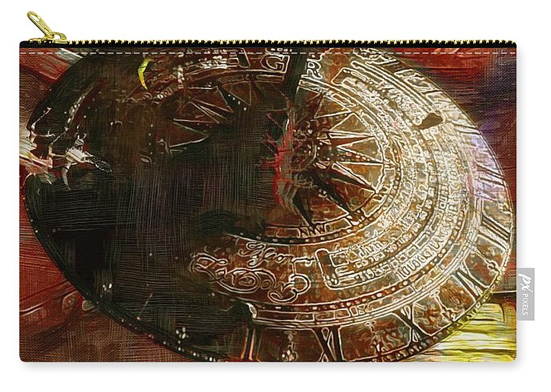 Science Fiction Carry-all Pouch featuring the painting Inevitable Conclusion by RC DeWinter