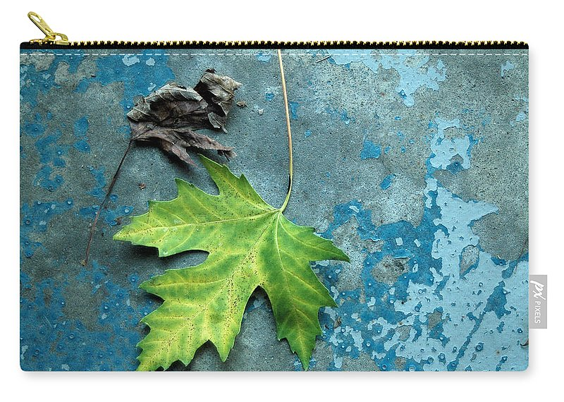 Leaves Carry-all Pouch featuring the photograph Inevitable by Trish Hale