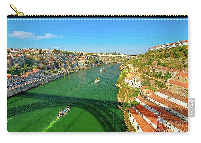 Oporto Carry-all Pouch featuring the photograph Infante Bridge Oporto by Benny Marty