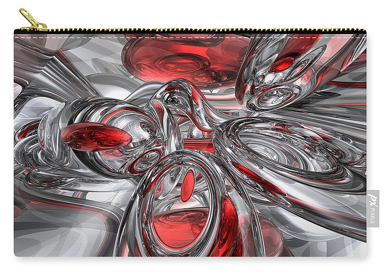3d Carry-all Pouch featuring the digital art Infection Abstract by Alexander Butler