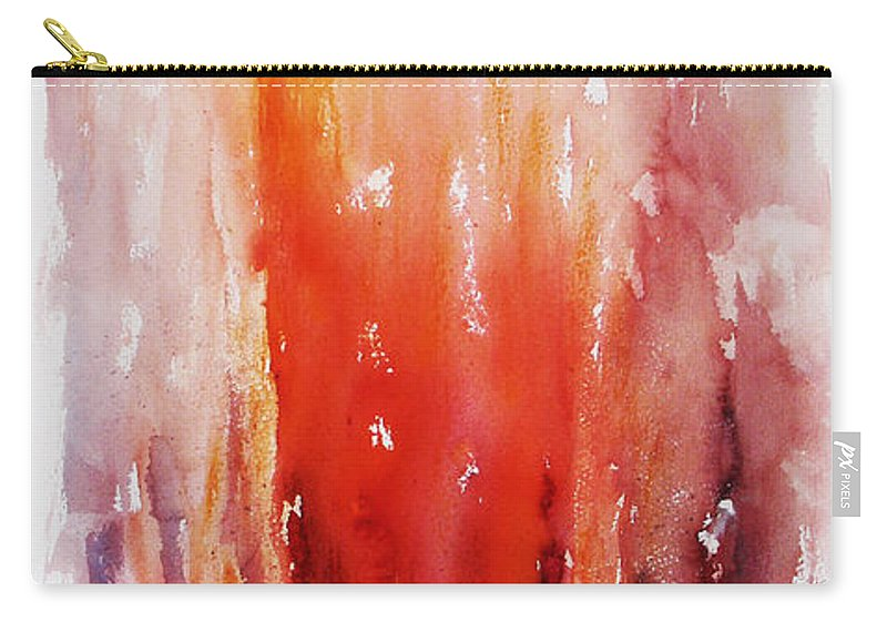 Landscape Carry-all Pouch featuring the painting Inferno by Rachel Christine Nowicki