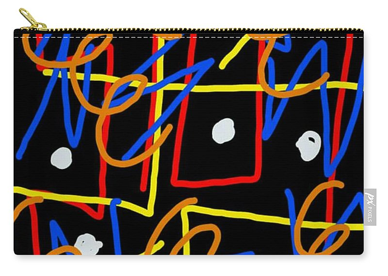 Geometric Carry-all Pouch featuring the digital art Infest The Cranium by Paulo Guimaraes