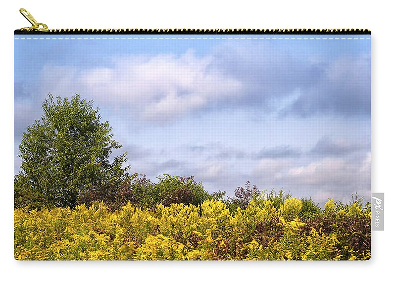 Fall Landscape Carry-all Pouch featuring the photograph Infinite Gold Sunlight Landscape by Christina Rollo