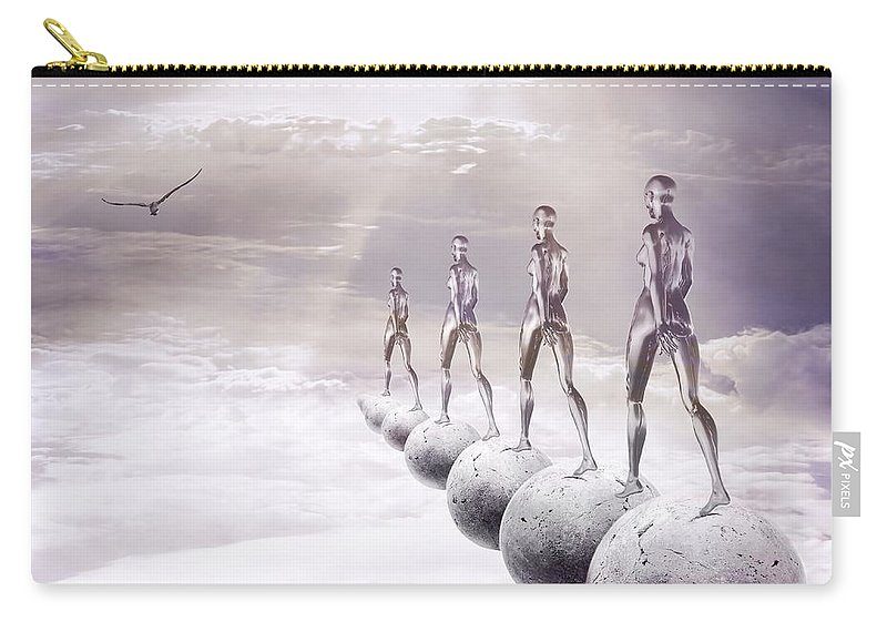 Surreal Carry-all Pouch featuring the digital art Infinity by Jacky Gerritsen