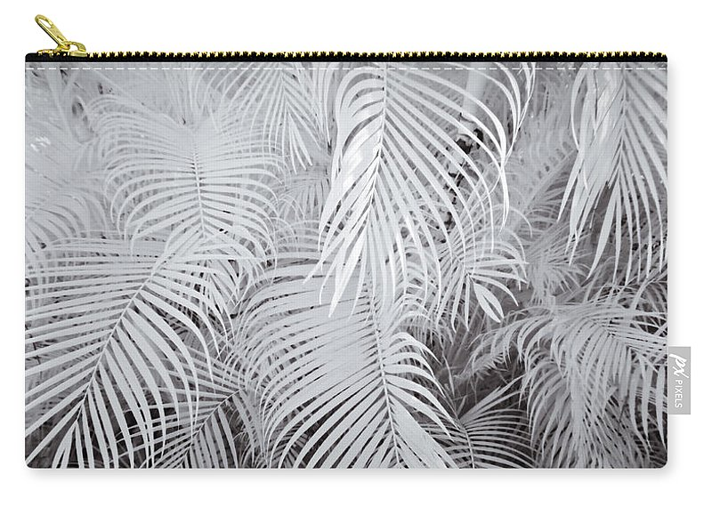 3scape Photos Carry-all Pouch featuring the photograph Infrared Palm Abstract by Adam Romanowicz